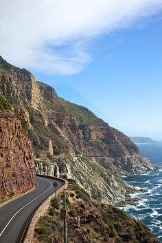 Take your time driving, cycling or walking along 'Chappies', a 5km toll road linking Hout Bay with Noordhoek – it's one of the most spectacular stretches of coastal highway in the world...   Read more: http://www.lonelyplanet.com/south-africa/cape-town/activities/driving-offroading/chapmans-peak-drive#ixzz3ZvDiA5Pq