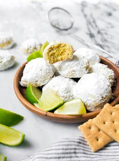 Key Lime Cooler Cookies, small batch snowball cookies.
