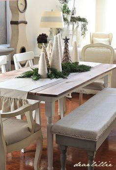 Dear Lillie: Ruffled Table Runner and Christmas Table