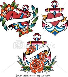 katie...rose and anchor tattoo - Google Search
