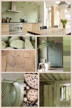 Deze groene kleur combineert heel goed met hout! Deze kleur is gewaagd, maar maakt het ook weer rustig en natuurlijk!