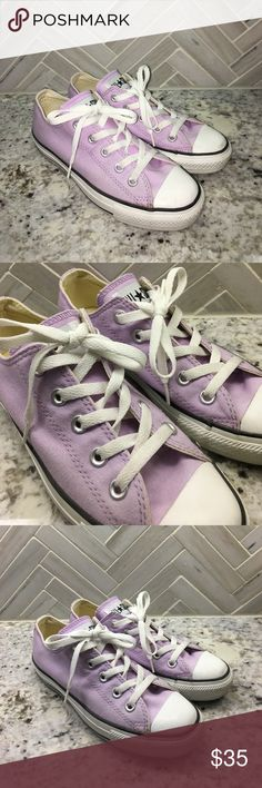 Converse in Lavender In good condition. Converse Shoes Sneakers