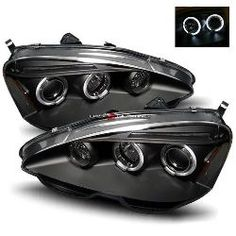 02-04 Acura RSX Halo Projector Headlights - JDM Black