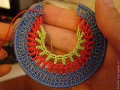 Нам понадобится: - пряжа 3-х цветов. (в данном случае у меня Yarn Art Violet 100% хлопок).- заготовки серьги (новые купленные в магазине рукоделия, или старые, надоевшие как в моем случае)- нитки с иголкой. (нитки - швейные, в тон к одному из цветов нашей пряжи)- бисер или стеклярус- клей «Момент Кристалл» (очень удобная вещь, им удобно прятать и клеить хвостики, которые так упорно хотят на…