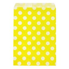Yellow Polka Dots Treat Bags, Set of 10 @ Fancy Flours