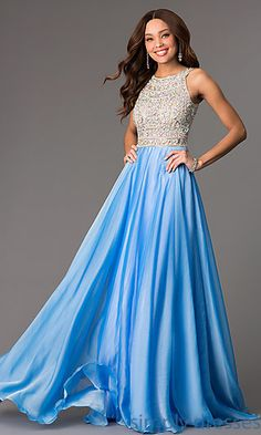 High Neck Long Prom Dress by Tiffany at SimplyDresses.com