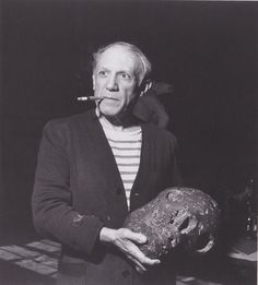 Pablo Picasso by Robert Capa.