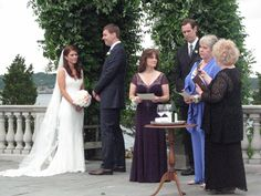 """In """"The Family Blessing"""" ritual I created, moms Wanda and Polly each blessed the marriage and welcomed the new son/daughter."""