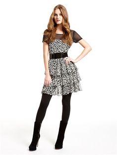 5837dd7ba1 DKNY Dress with Tiered Ruffle Skirt