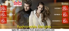 Upto 25% off on fashion at homeshop18-com + upto 8% cashback from dealsncashback http://www.dealsncashback.com/merchants/homeshop18