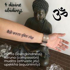 The Four Abidings #Buddhism Tattoos in Sanskrit