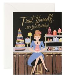 Treat Yourself Birthday card designed by Anna Bond for Rifle Paper Co.