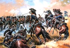 """""""Attack Wurttemberg Chevau-Léger on the Russian infantry squares, Battle of Krasnoi"""" 1812"""