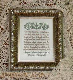 Wonderful traditional Irish or Celtic house blessing. Hostess or shower gift, housewarming, weddings, civil unions, recommitment ceremonies,