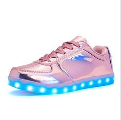 8378ae26f LED shoes usb charge casual flats light up shoes super starring fluorescent luminous  shoes men women · Girls SneakersLight ...