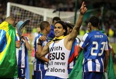 "Radamel Falcao - ""with Jesus You'll never be alone"""