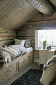 Mountain Bedroom, Mountain Cottage, Chalet Design, Cabin Design, Norway House, Scandinavian Cabin, Chalet Interior, Cabin Interiors, Cabins And Cottages