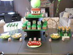 Minecraft Theme Birthday Party - my son loves this!