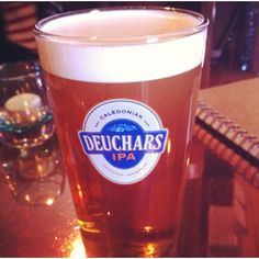 Deuchars IPA cask ale in Scotland. I'm pretty sure I have had this. Trips to the UK end up quite fuzzy, though.
