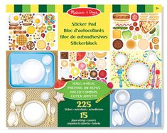 Melissa & Doug Sticker Pad - Make-a-Meal, Food Stickers Powerpoint Examples, Main Food Groups, Chef Party, Usda Food, Food Stickers, Reward System, Melissa & Doug, Good Notes, Play Food