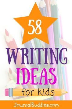 These 58 new writing ideas for kids ages 7-14 will enthuse students and get them excited about writing. There's something for everyone here, with questions ranging from silly daydreams about being a super-secret spy to deeper thoughts about sources of inspiration. Students can write letters to their future selves, or they can imagine what life might be like on another planet. via @journalbuddies