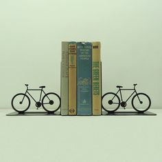 Bicycle Metal Art Bookends  FREE USA by KnobCreekMetalArts on Etsy, $64.99