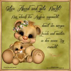 Guten Abend Gute Nacht Bilder Lustig #GutenAbend #GutenAbendGuteNachtBilderLustig Good Night, Good Morning, Good Evening Messages, Fairy Wallpaper, Diy And Crafts, Teddy Bear, Fun, Advent, Stress