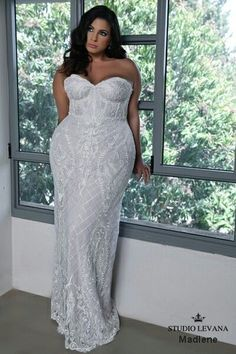 Jaw dropping plus size wedding gown!