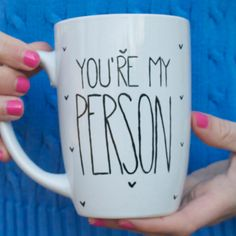 You're My Person Coffee Mug // Personalized Mug // Best Friends Mug // Grey's Anatomy Mug by glitterandbold on Etsy