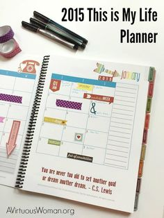 2015 This is My Life Planner @ AVirtuousWoman.org is the ULTIMATE planner for busy moms!