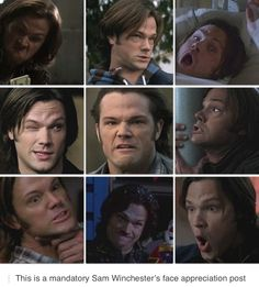 the many faces of Sam Winchester ;))