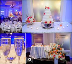 Pink, blue and orange are the perfect wedding colors for your Spring and Summer wedding