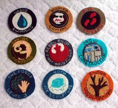 HP Craftalong ~Summer Semester 2012~ Star Wars merit badges - hand sewn from felt.