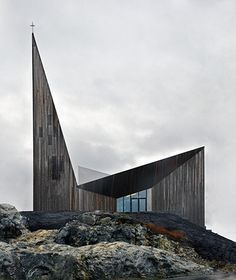 Knarvik Community Church by Reiulf Ramstad Architects in Knarvik, Norway