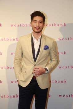 Godfrey Gao looks chic with this blazer~ For more fashion inspiration, go to www.goxip.com ~Snap. Shop. Wear.