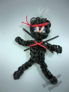 Rainbow Loom Tutorial : Ninja Action Figure