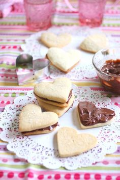 Valentine Heart Nutella Cookies
