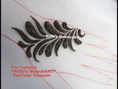 How to Draw Basic Thick Bold Shapes in Gulf Style Henna Mehndi Design Tutorial Class for Beginners - YouTube