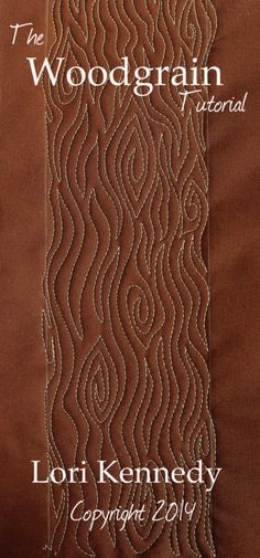 woodgrain Free motion quilting 9 quilting ideas