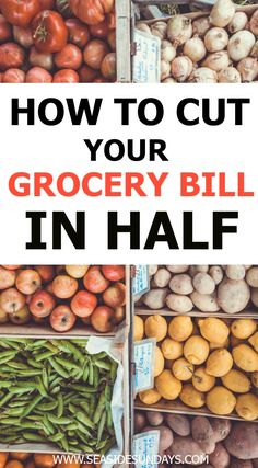 Looking to save money easily? These tips will help you slash your spending at the grocery store.Tons of ideas to save money on groceries and cut your food budget. If you want to live a frugal live, these tips and tricks will help you save money on your grocery list. Learn how extreme savers shop on a budget. Great list for SAHM and college students who need to cut costs quickly. Spend less on your next visit to the supermarket with these money-saving ideas