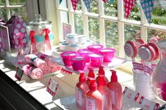 How about this Spa Bar done with A Muse Studio Bubblegum and Bermuda and the Glamour Girl Stamp Set?!