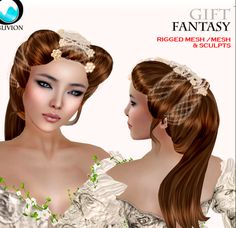 Free Second Life Pearls Hair