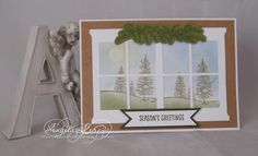 Angela Lorenz - Aussie Christmas Scene - Hearth & Home double window, Stampin Up Holiday Cataogue