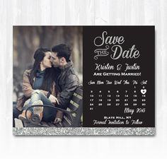 But no smooching! Hey, I found this really awesome Etsy listing at https://www.etsy.com/listing/200863267/silver-glitter-save-the-date-magnet-or