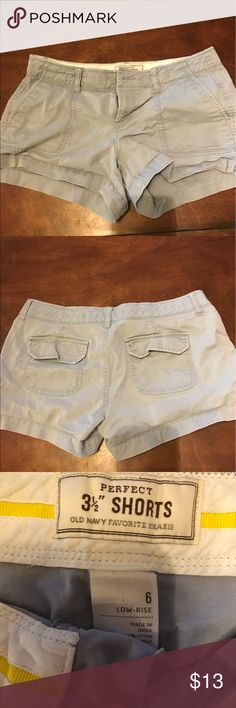 Blue low ride shorts! Size 6!! Blue low rise shorts! Shorts Jean Shorts