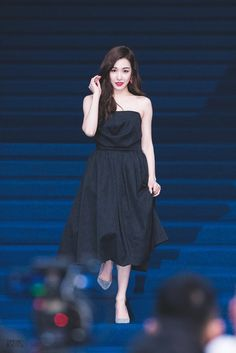Girl's Generation Tiffany Looks Gorgeous In Her Low Cut Dress — Koreaboo