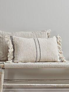 NEW Woven Fringed Cushion - Luxury Cushions - Soft Furnishings Neutral Cushions, Boho Cushions, Luxury Cushions, Decorative Cushions, Modern Cushions, Designer Cushions, Bed Linen Design, Cool Beds, Soft Furnishings