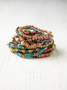 Free People Where the Boys Are At Beaded Bracelets, $318.00