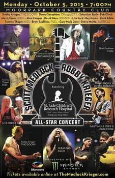 2015 Robby Krieger golf outing and all-star concert date announced.