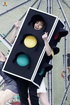 Xiumin, such a cute traffic light. I think i just keep staring at red light (xiumin's face) ^-^